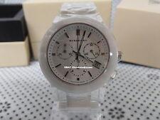 100% Brand New Authentic Unisex Burberry White Ceramic Wristwatch Chrono BU9080