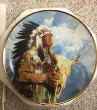 """Hear Me Great Spiriti"" Collector Plate by Paul Calle - The Franklin Mint"