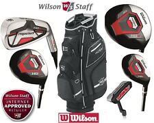 Wilson Prostaff HDX All Graphite Complete Golf Club Set Nexus Cart Bag 12 Clubs