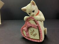 LENOX KITTY LOVE VALENTINE Cat Sculpture Kitten NEW in BOX with COA