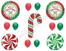 CHRISTMAS CANDY CANE Balloons party Decoration Supplies Santa Cookie Exchange
