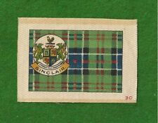Sinclair Clan Tartan Coat of Arms 1922 original printed silk Tartan