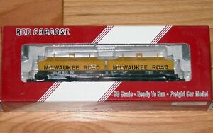 RED CABOOSE RR-32527-8 100 TON EVANS COIL CAR MILWAUKEE ROAD MILW 92252