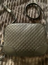 Gucci Guccissima Black Leather Crossbody Bag