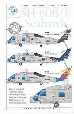 Mike Grant SH-60B/F Seahawk Decals 1/48 047, HSL-41, HS-14, HSL-49