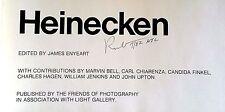 "FLAT SIGNED (TWICE), DATED ROBERT HEINECKEN; ""FRIENDS OF PHOTOGRAPHY"" 1980 ASSOC"