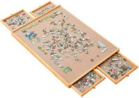 """29""""×21"""" Jumbl Puzzle Board Wooden Jigsaw Table W/Smooth Work Surface Adults Kids"""