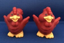 Fisher Price Little People 2 Red Roosters Farm With Logo