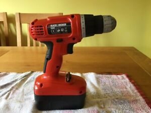 Black & Decker rechargeable cordless drill 18v