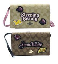 Абсолютно новые женские Coach X DISNEY SIGNATURE складка на клатч через плечо сумочка