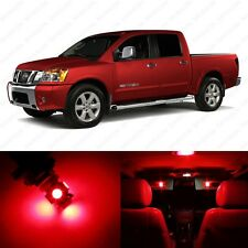 12 x Brilliant Red LED Interior Light Package For 2004 - 2013 Nissan Titan