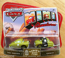 Disney PIXAR World of Cars MINI ADVENTURES Sarge's Boot Camp DOC HUDSON SHERIFF