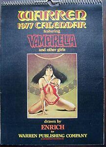 VAMPIRELLA, Original 1977, WARREN CALENDAR, 12 PLATES+COVER by ENRICH