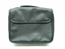 Black Vinyl Laptop Briefcase Bag #00189
