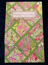 "NEW LILLY PULITZER Pocket Lilly Pad Notepad Bamboo Patch 3"" x 5"""