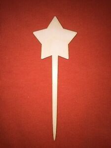 10 x star PLANT MARKERS / LABEL / POKES WOODEN SHAPE PLAIN BLANKS GARDEN CRAFT