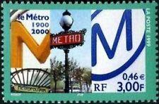 France Yvert Num 3292 ** Metro Paris  1999