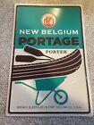 "New Belgium Portage Porter Canoe Paddle Wheelbarrow Beer Metal Sign 16.5"" x 11"""