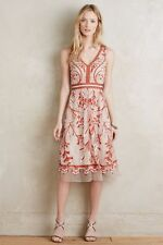 Anthropologie Alicante Floral Embroidered Jeweled Dress Sz 4 Moulinette Soeurs