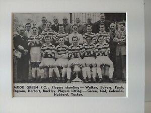 Amateur football team print MOOR GREEN F.C.
