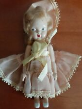 1950s Vintage All Original Hard Plastic Mini doll; MINT CONDITION!