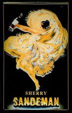Blechschild Sandeman Sherry Tänzerin gelbes Kleid Schild Werbeschild 20x30 cm