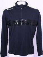 NEW Columbia Black Golf Active Omni-Wick Dynamic LS 1/4 Zip Pullover Men's L