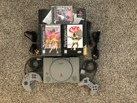 Sony Playstation PS One PS1 Console W/ 2 Controllers Games Bundle Tested OB