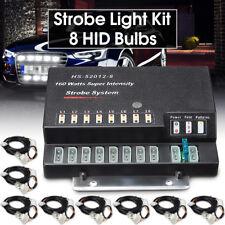 160W 8 HID Bulbs Hide A Way Emergency Hazard Warning Flash Strobe Light System