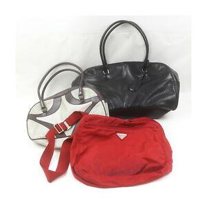 Prada Leather Nylon Hand/Shoulder Bag 3 pieces set 523837