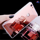 TPU Plating Mirror Acrylic Back Rubber Case Cover for Huawei P9 P10 Plus Mate 9