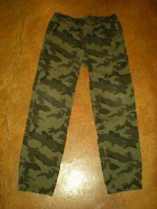 Tony Hawk Reflex Stretch Drawstring Jogger Pants Green Camo Youth Boys XL 18-20