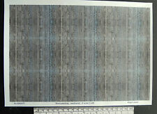O gauge (1:48 scale) wood planking (weathered) -  paper - A4 sheet