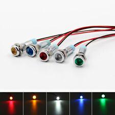 5x Car Boat 12V 6mm LEDs Indicator Light Dash Dashboard Panel Warning Pilot Lamp