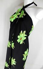 DKNY Pareo copricostume abito mare tropical green cover up beach dress floral