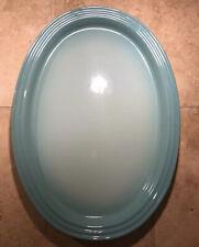 """""""Cool Mint"""" LE CREUSET Medium 14.5"""" Oval Platter Serving Tray Ombre Green EUC"""