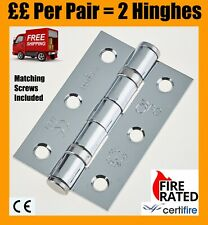 5 PAIRS OF 2 INCH 50MM LONG  B.Z.P FLUSH HINGES PLUS FIXING SCREWS P//P FREE