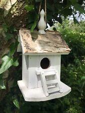BIRD House Nido BOX, rustico reale Corteccia Tetto ECCENTRICO Shabby Chic Style con scala