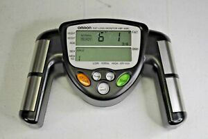 Omron HBF-306C Handheld Body Fat Loss BMI Monitor Black - Tested Works