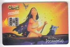 CINEMA CARTE / CARD .. SUISSE METRO CINE DISNEY POCAHONTAS CARRE +N° CHIP/PUCE