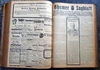 Cham 1921 Zeitung kompletter Jahrgang Chamer Tagblatt Kurier alt Oberpfalz bayer