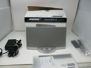 Bose SoundDock Series II Digital Music System Portable Speaker Dock  Silver