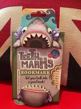 Teeth-Marks Bookmark - Shark. Dynamic Fun Bookmark. Gift, Brand New
