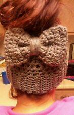 Crochet pony Tail beanie Women's Hat Messy Bun Hat Messy Bun Beanie More colors