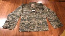 USAF US Air Force Mens Coat Utility Uniform ABU Tiger Camo 44 Regular R NWT