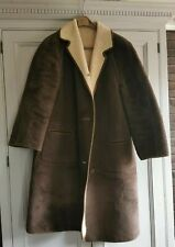 Vtg Brushed Mohair Suede Wool Coat, boho,Casual Chic Winter size 12 REVERSIBLE