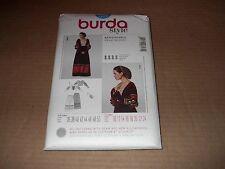 Burda Pattern 7171 Misses' Renaissance Victorian Skirt, Top, Snood Costume 10~24