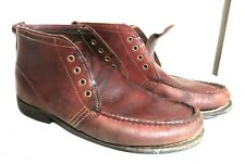 Men's Orvis chukka leather field ankle moc toe lace up boot sz 12 EE