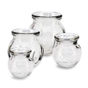 NEW! 4pcs FIRE CUPPING JAR SET - MASSAGE ACUPUNTURE -VACUUM GLASS PRESSURE CUP