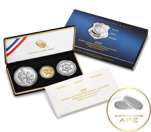 2021 National Law Enforcement Memorial Museum Commemorative 3 Coin Proof Set